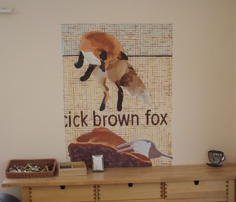 brown fox mural