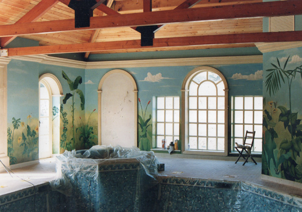 private swimming pool mural