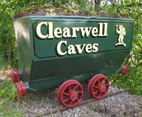 clearwell caves signage